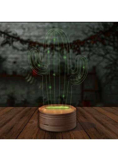 Artikel Kaktüs 3D LED Gece Lambası Renkli